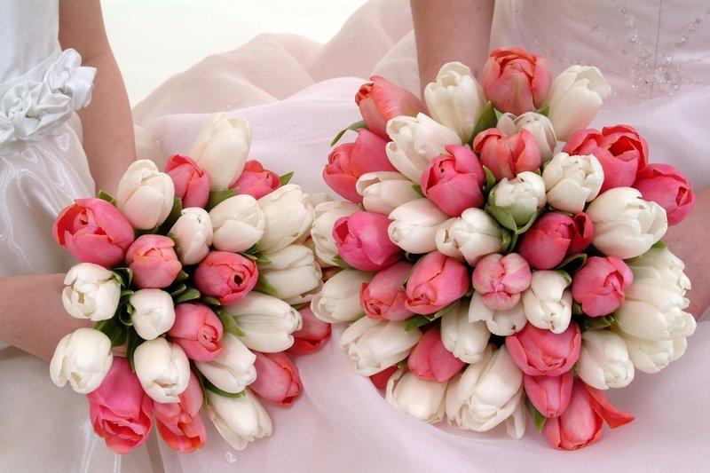 Цветов, букет невесты из маленьких тюльпанов фото