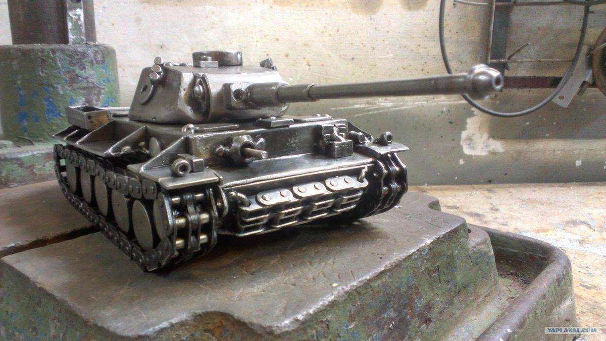 картинки самодельного танка поделка из металла врачи спасли ребёнка