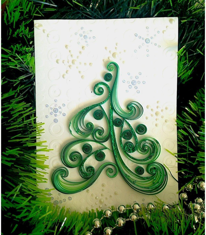 Квиллинг новогодние открытки своими руками, мужчине февраля