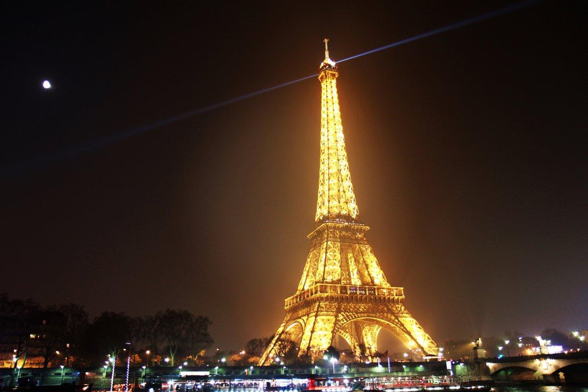 Картинки ночного парижа эйфелева башня