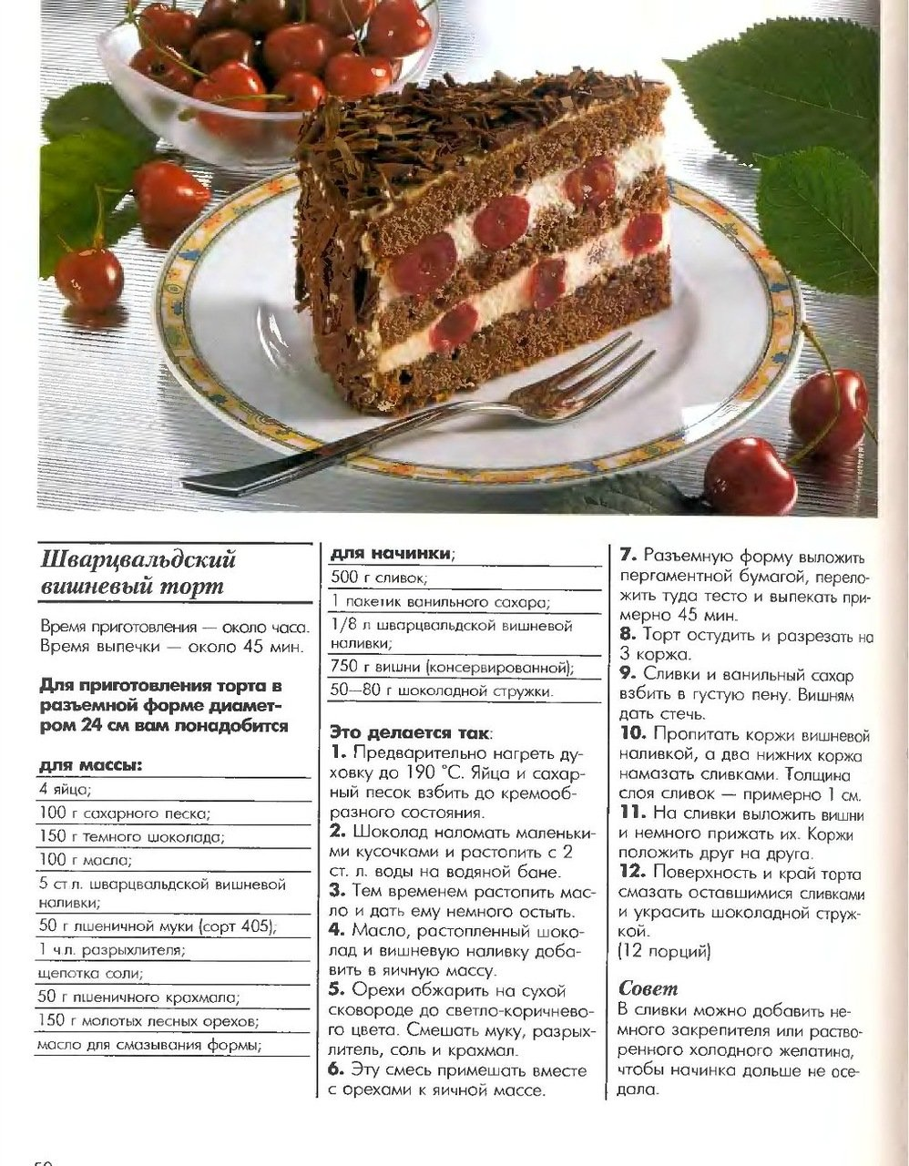 Торт на картинках и рецепт