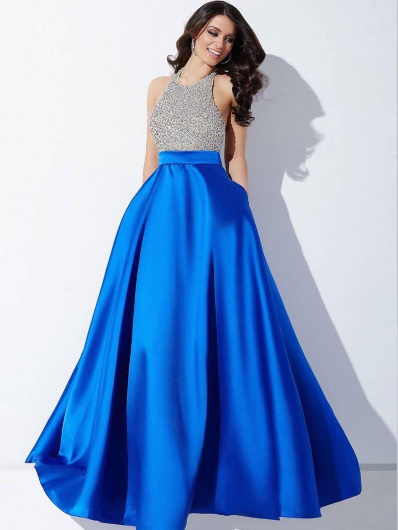 Выпускное платье из атлас