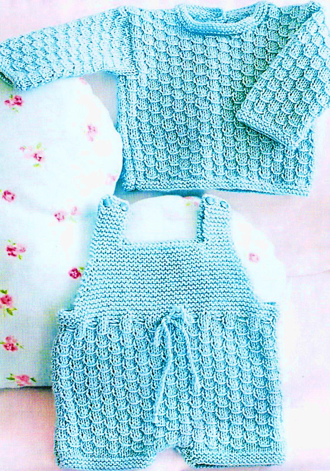 ажурные комбинезоны спицами с выкройками для новорожденных Npo