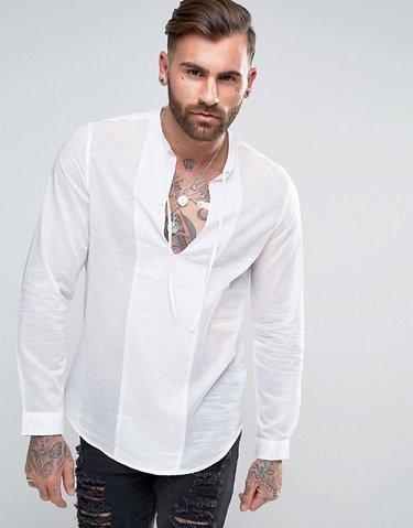 23d54a563c98aab Белая зауженная рубашка и розовый галстук ASOS Wedding - СКИ ...
