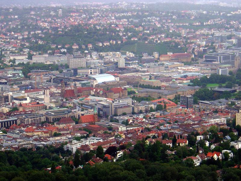 дымка над городом Штутгарт