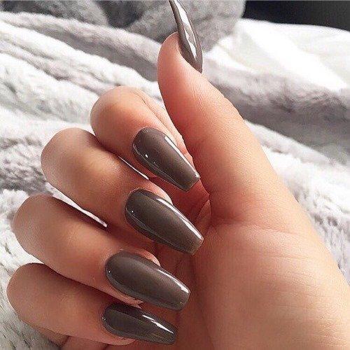 Маникюр модные цвета на длинные ногти