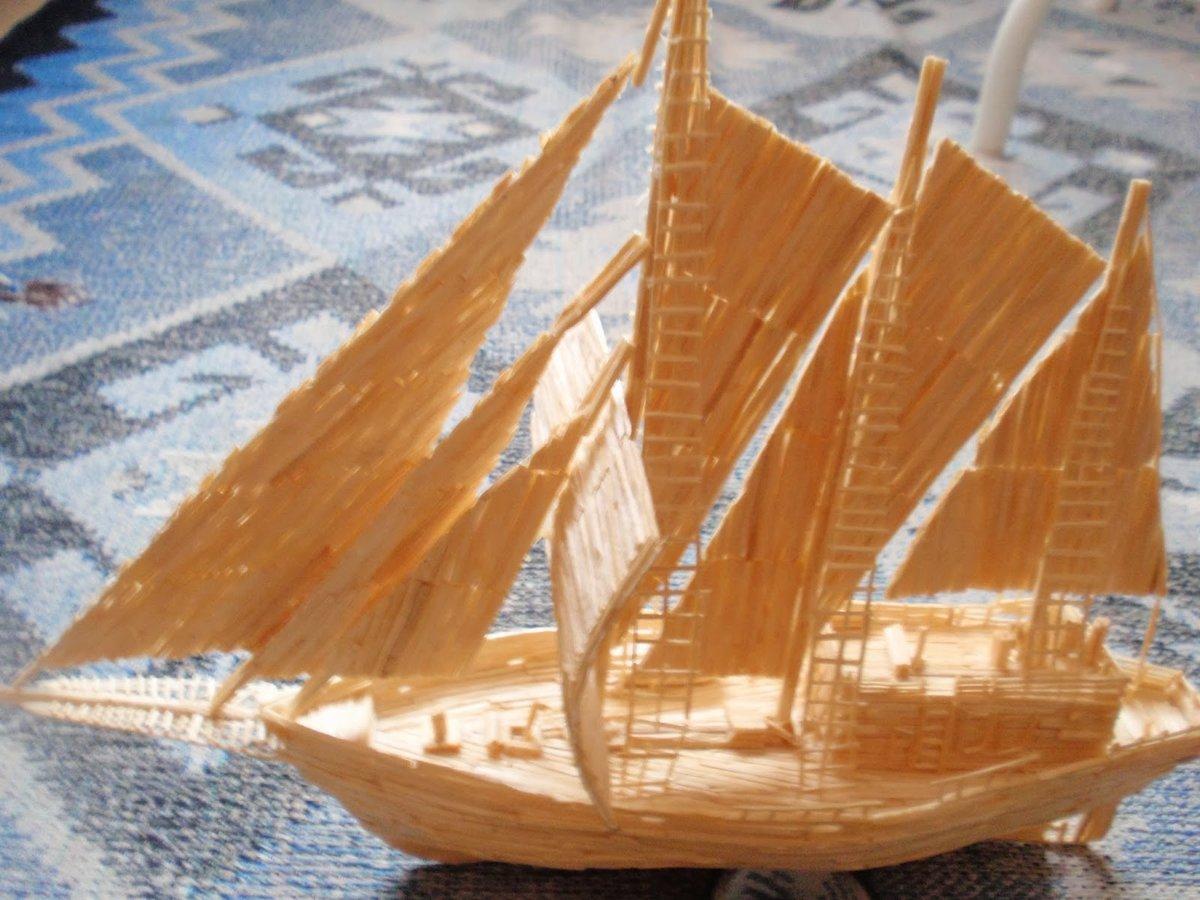 инструмент картинки кораблей из спичек нежные