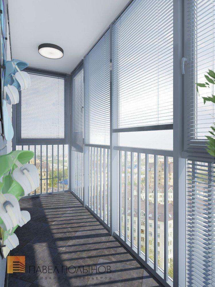 "Интерьер балкона в проекте ""лоджии, балконы, террасы "". диза."