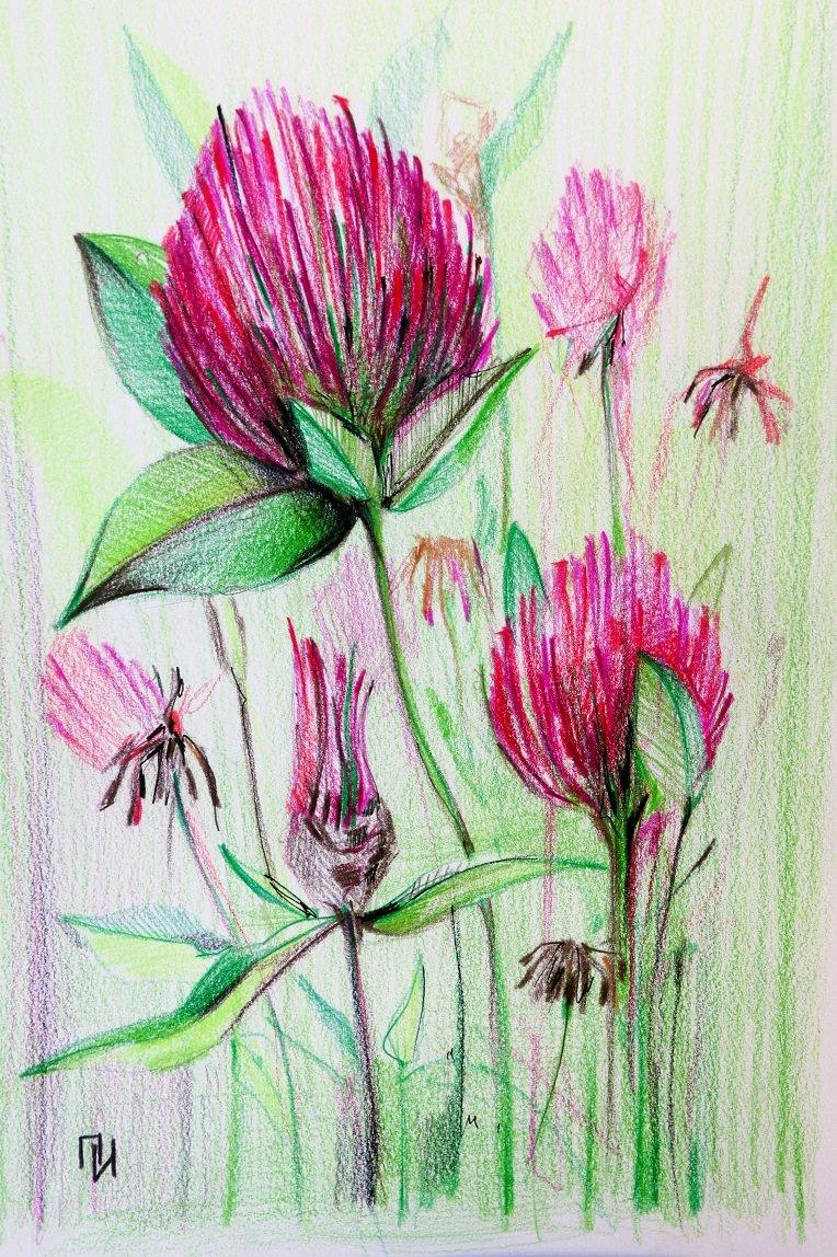 простые рисунки в цвете массе воды стакане