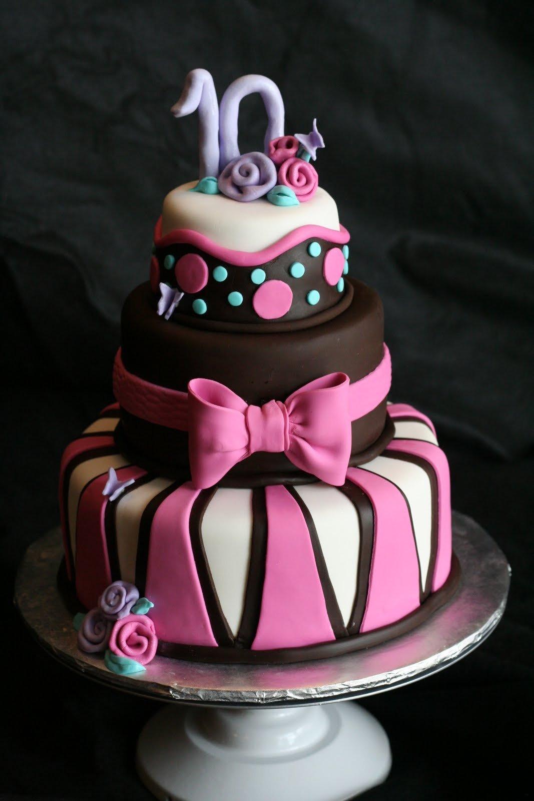 Тортики для девочки в картинках