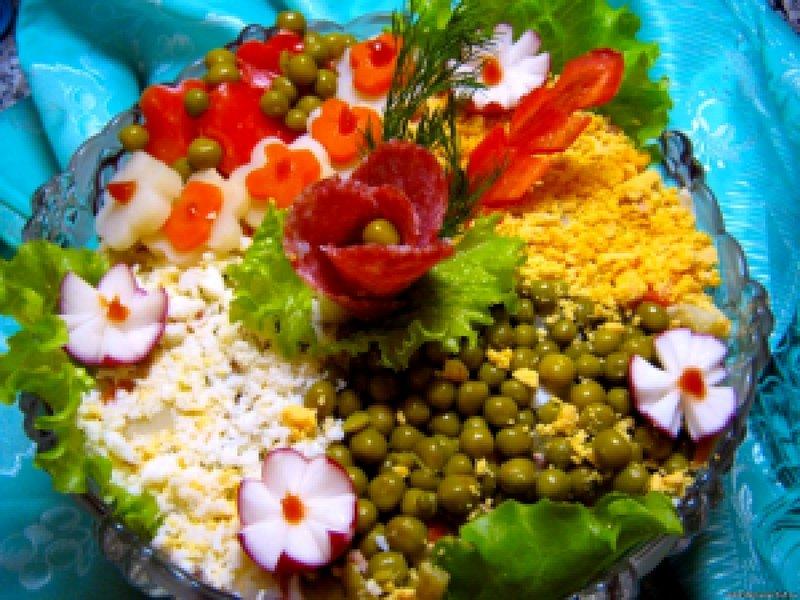 Салатов к столу праздничному фотографиями красивых Рецепты с want keep this