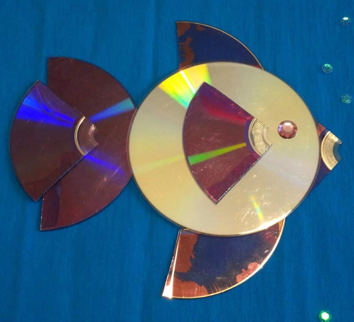 что сделать из компакт дисков фото