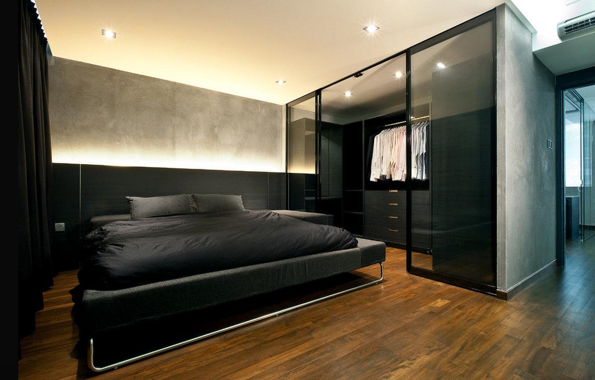 """Что представляет собой дизайн гардеробной в спальне?"""" - карт."""