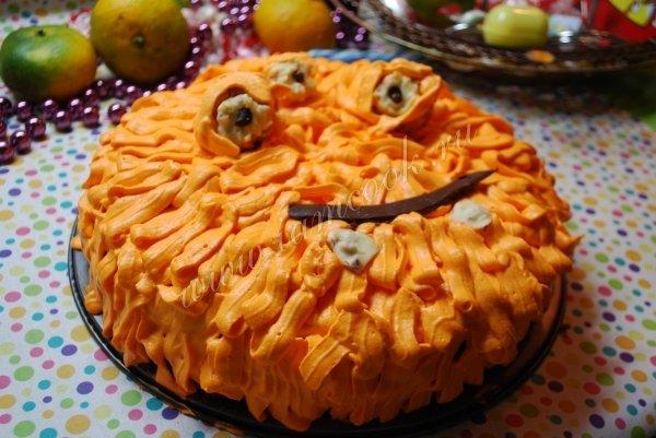 Проверенный рецепт приготовления вкусного торта трехглазый монстрик на хелоуин, шаг за шагом с фотографиями.