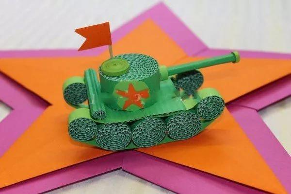 Открытка танк своими руками на день рождения, днем рождения любимую
