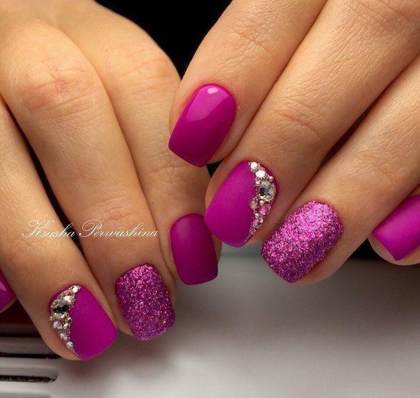 Дизайн ногтей гель лаком розового цвета