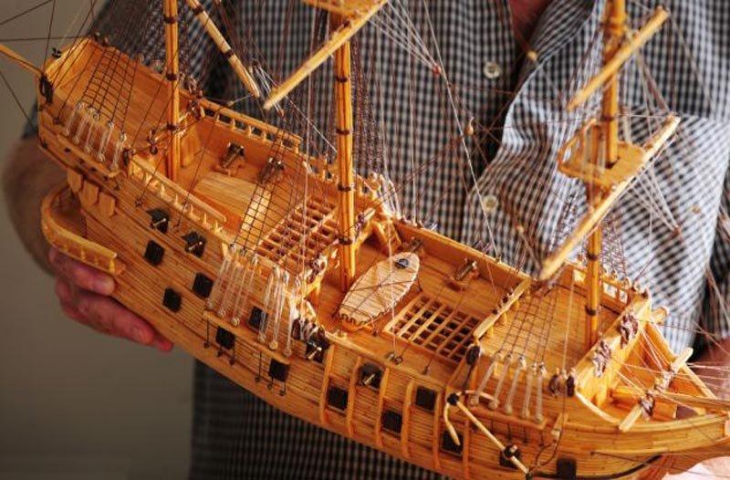 фото инструкция создания из спичек корабля геолокации