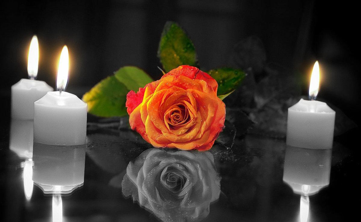 Картинках, картинки поминальные свечи с цветами