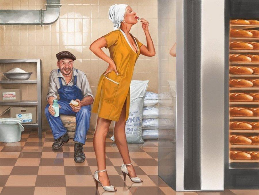 Смешные картинки про женщин на работе, корел драв