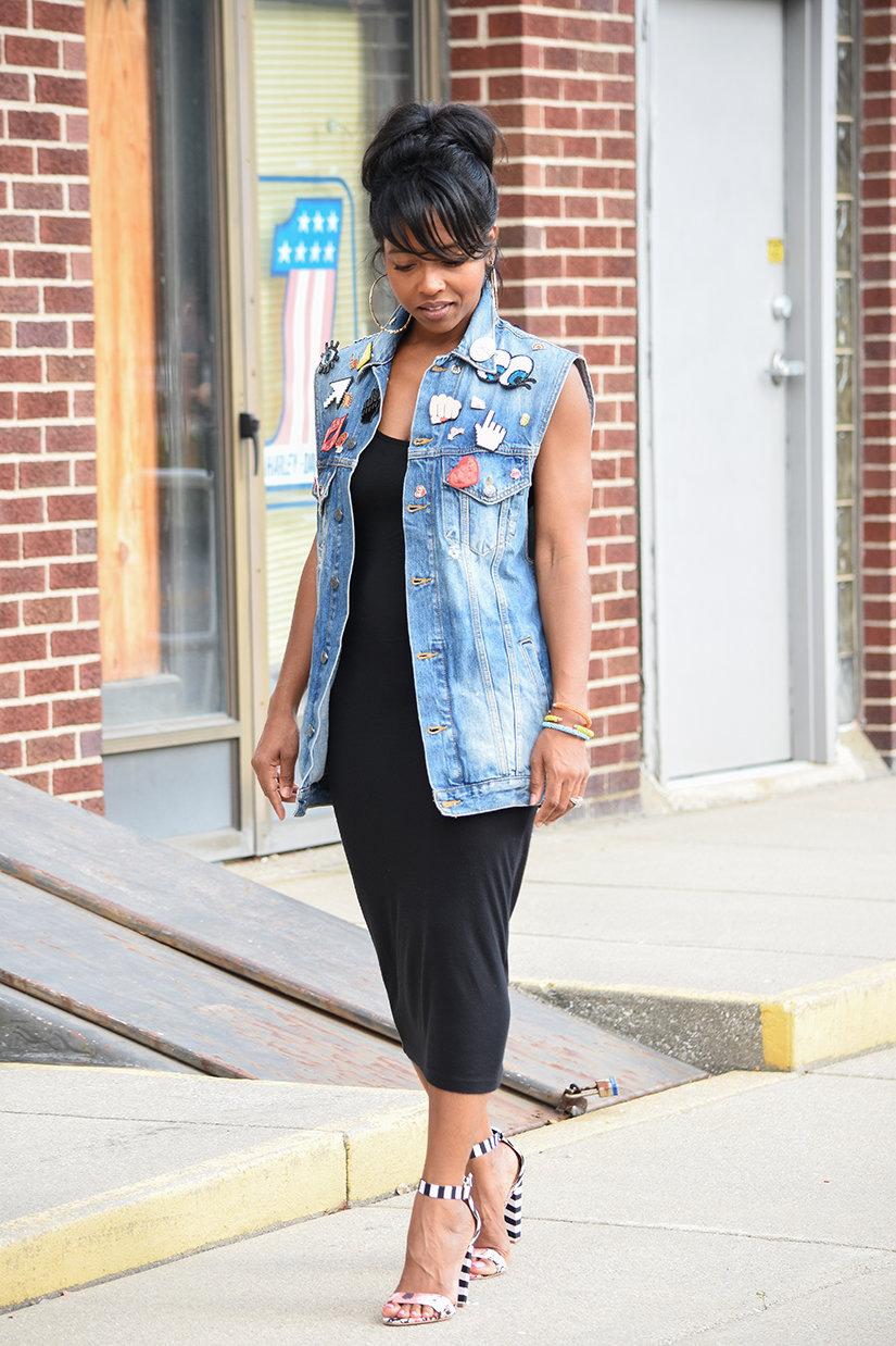 платье майка с джинсовой жилеткой фото лада