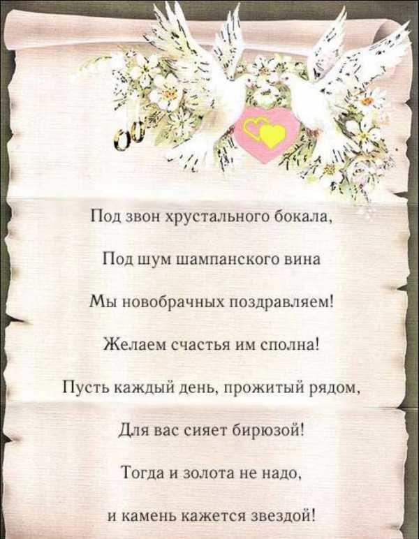 Текст поздравления открытки на свадьбу