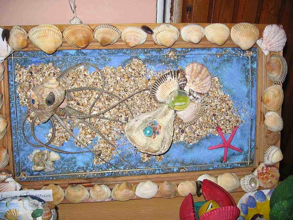 Детские морские картинки из природного материала для детского сада, для поздравления юбилей