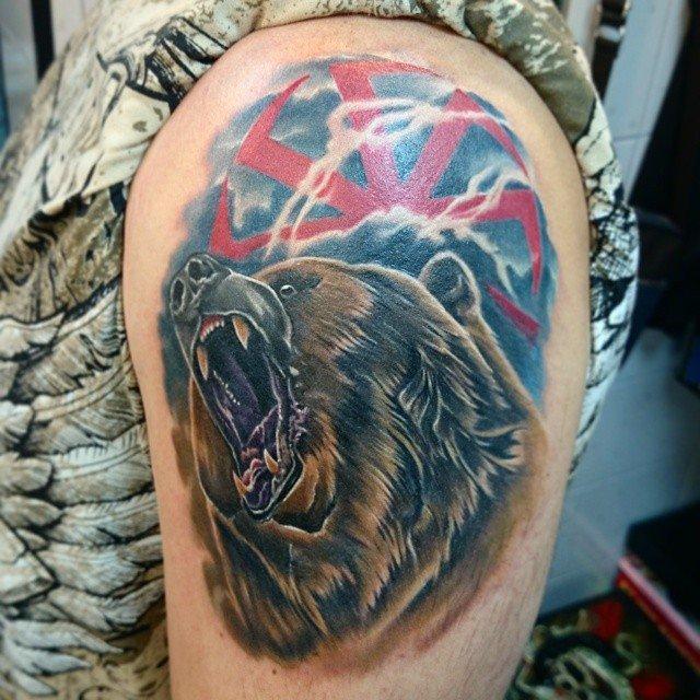 Тату медведь коловрат картинки