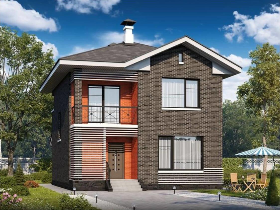 проект 2 х этажного дома из пеноблоков