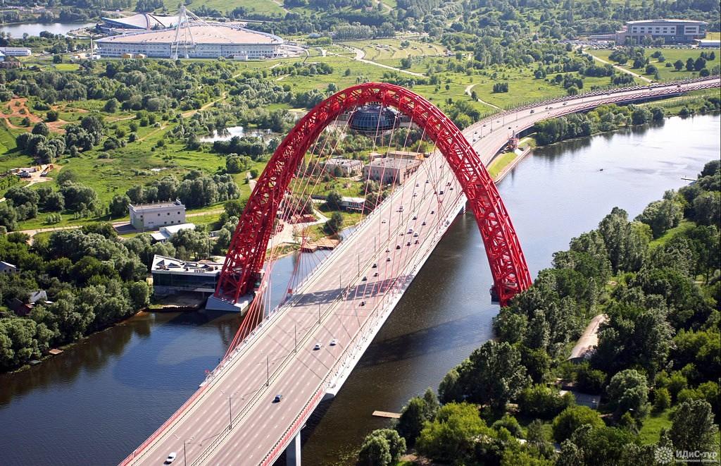 живописный мост фото в москве