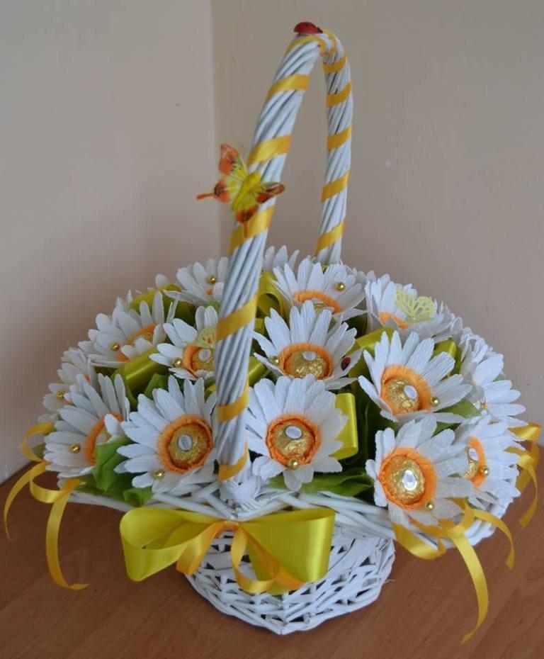 Корзина цветов своими руками фото 212