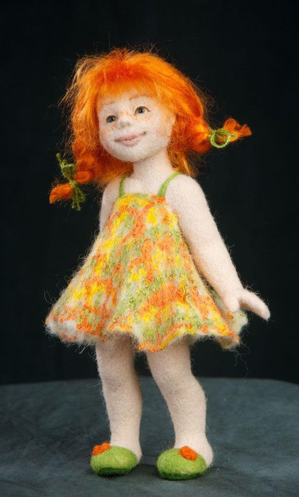 мастер класс куклы из валяной шерсти фото