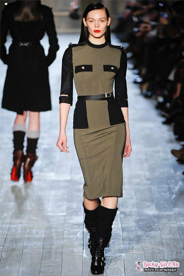 Платье стиле милитари 88