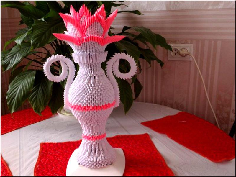 Оригами картинки и схемы из модулей вазы