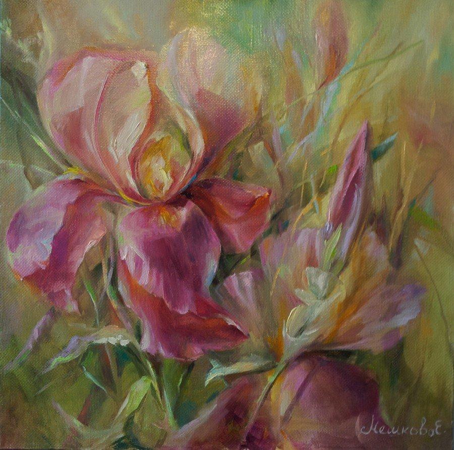Картинки маслом для начинающих цветы