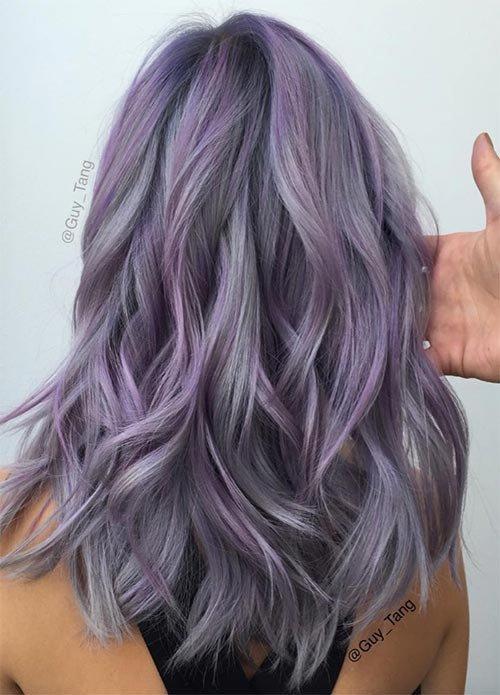 Лавандовые волосы