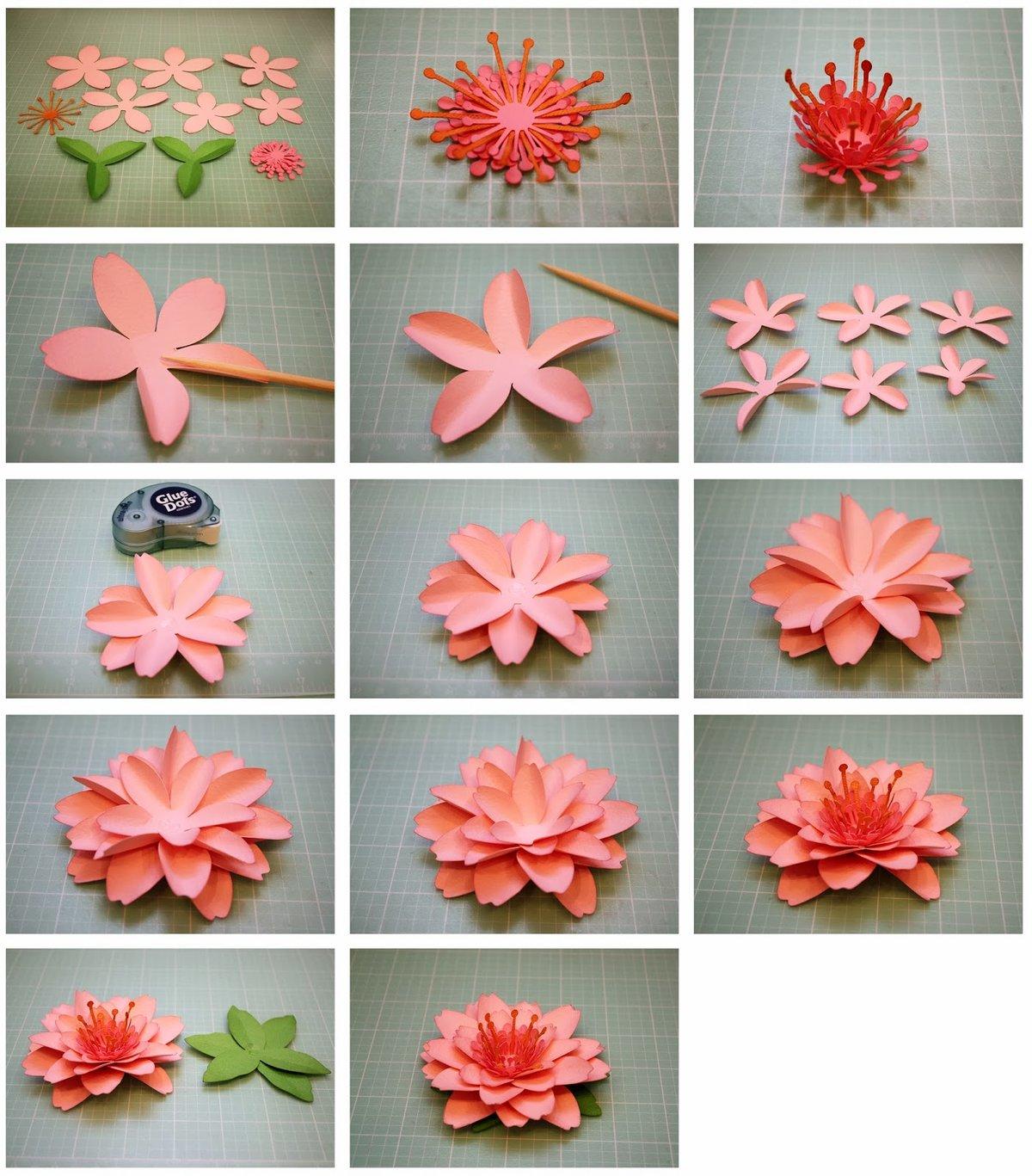 Стоит, как сделать цветок из бумаги на открытку быстро