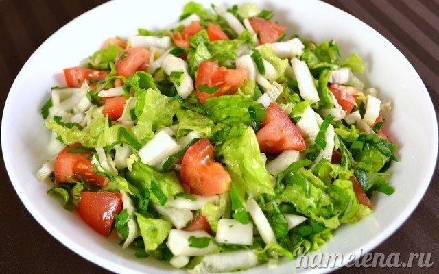 салат из китайской капусты помидоров и огурцов