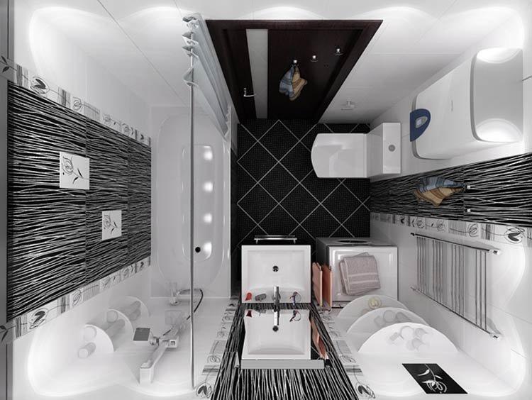 Дизайн ванной комнаты когда места мало - один из самых популярных вариантов
