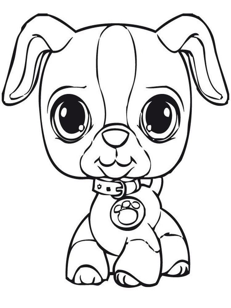 Картинки для распечатки собачки