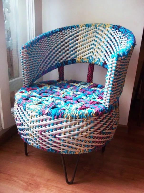 Как сделать с старого кресла новое 44