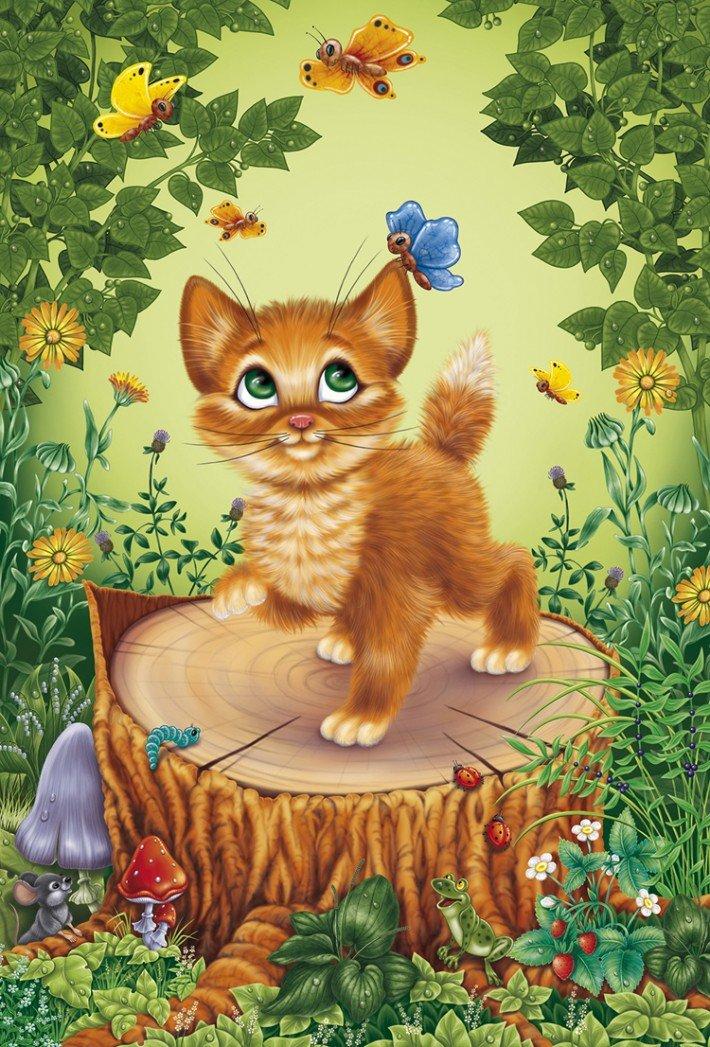 Детские картинки котенок, рисовать открытки маме