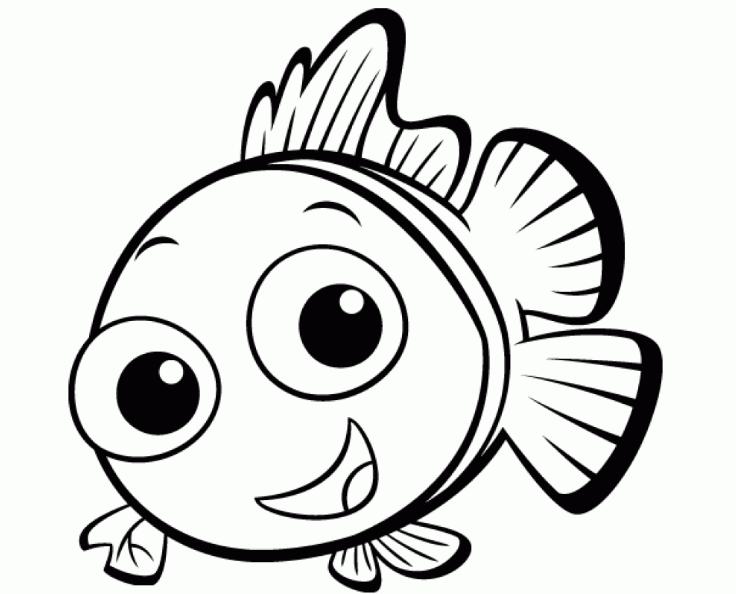 Дню, картинки а4 для печати рыбка