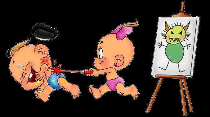Смешные картинки рисовать для детей, букете