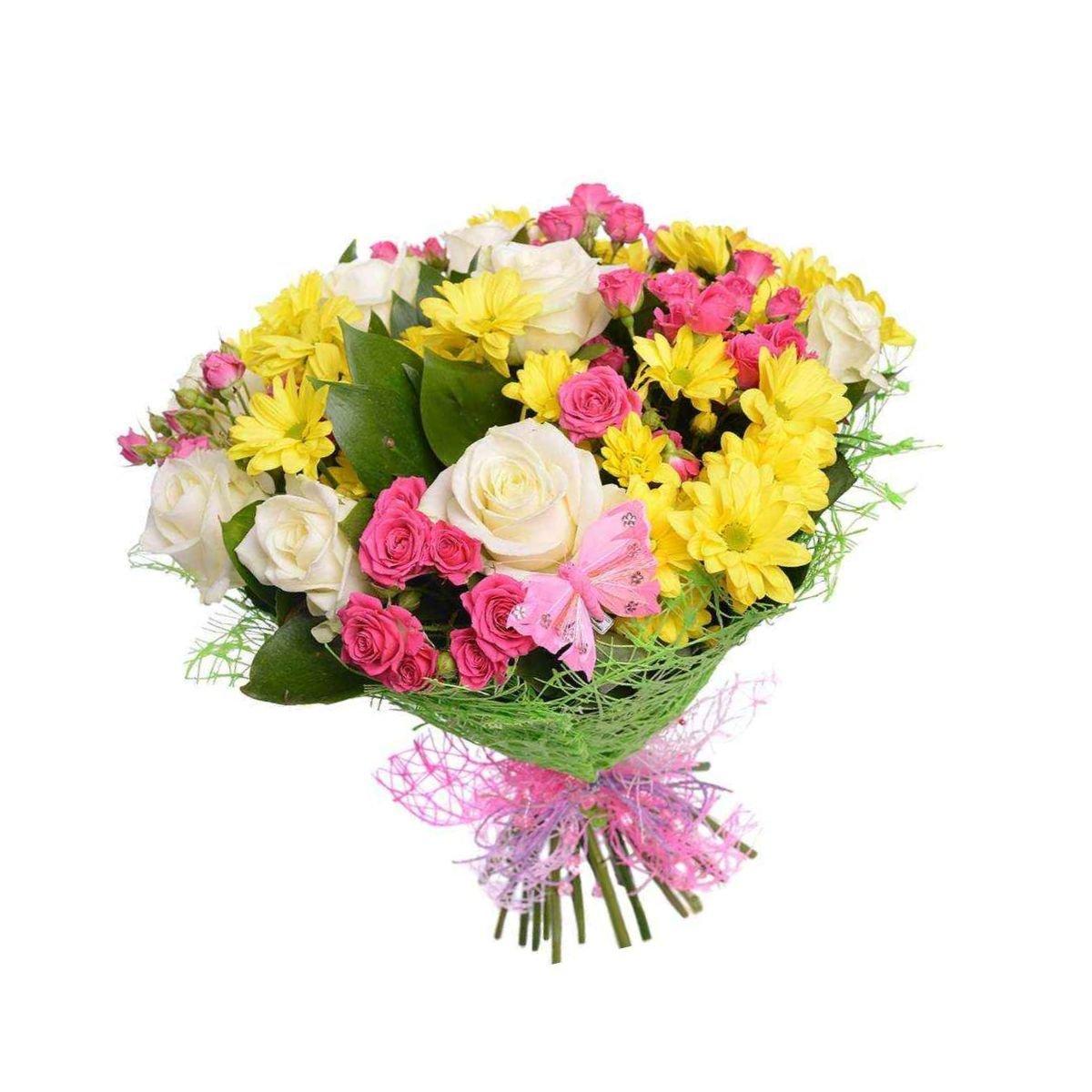 Коллекция букеты из роз и хризантем, невесты недорого