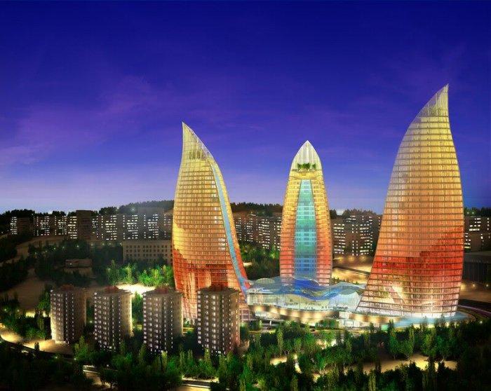 Kurorti.Uz - Баку Парк засажен деревьями, цветами, декоративными растениями, а его ландшафт  поражает своей красотой и разнообразием. Площадь фонтанов — удив