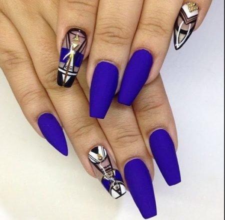 Дизайн ногтей 2017 фото новинки синий