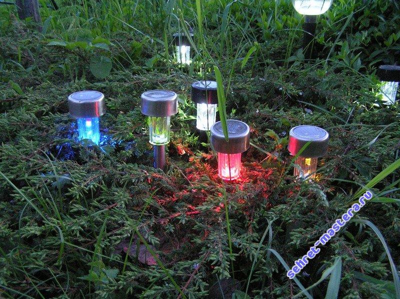 светильники в сад на солнечных батареях участкам удобно подъехать