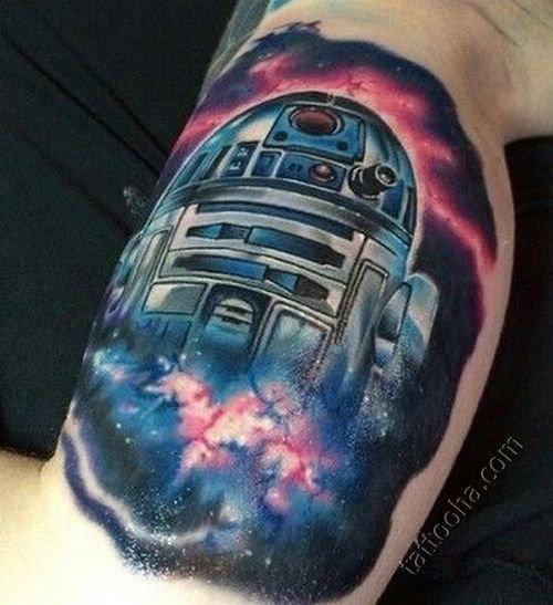 """Тату """"R2-D2 в космосе"""""""