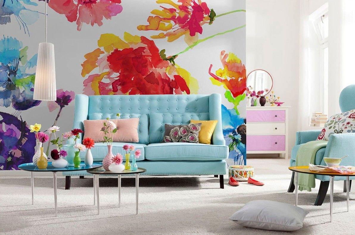 Картинки с цветами на стену, день святого