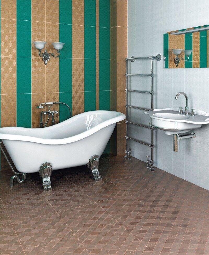 крутая ванная золотистого стиля